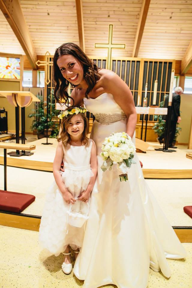 Me and my niece, the flowergirl