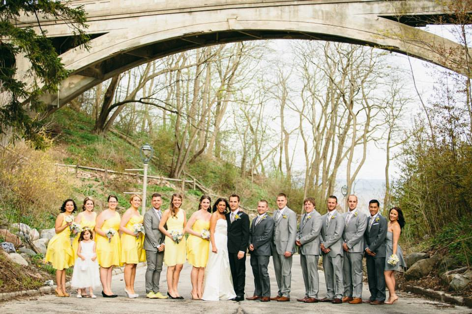 wedding party at Milwaukee Landmark