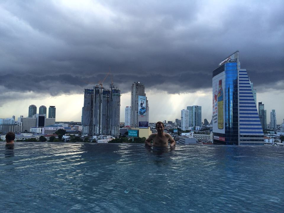 Bangkok hotel with storms