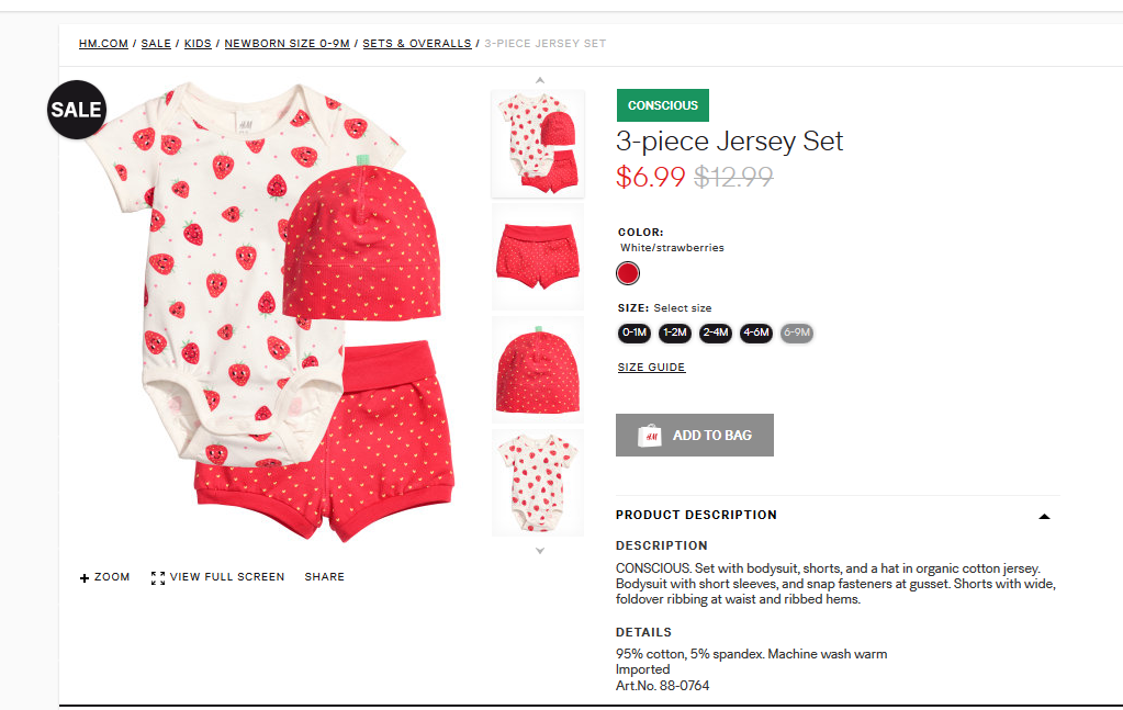 H&M 3 piece set for 6.99