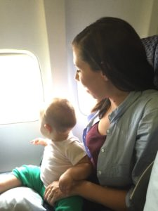 Anouk and I on the plane