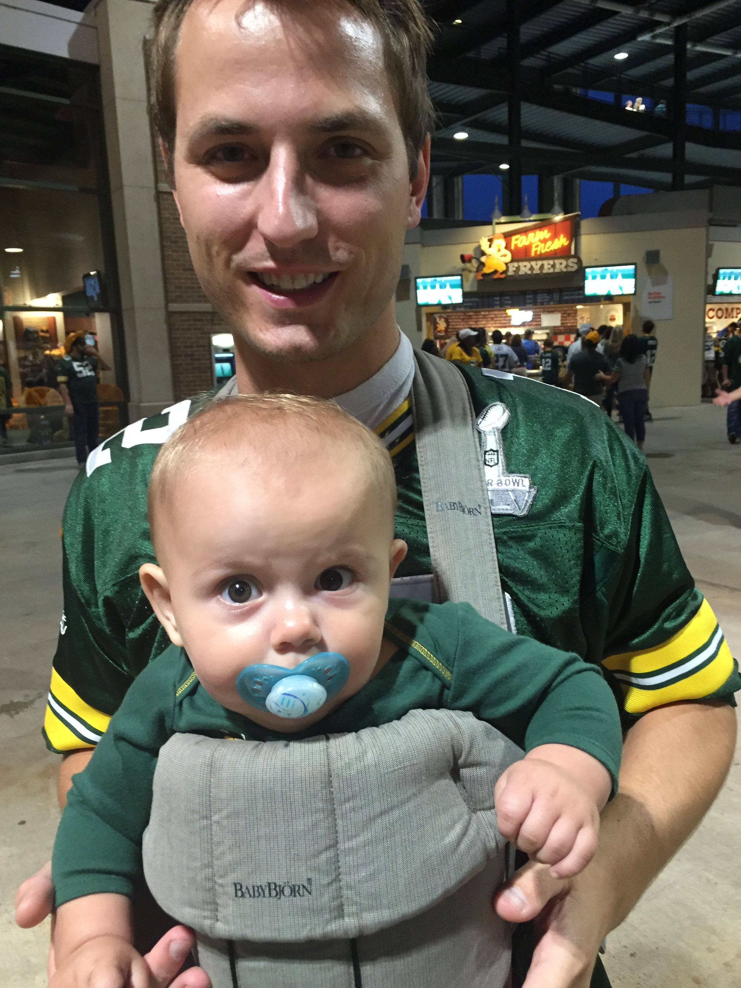 Jay and Anouk at Lambeau Field